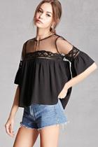 Forever21 Crochet Lace Babydoll Top