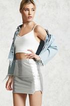 Forever21 Foil Coated Metallic Skirt