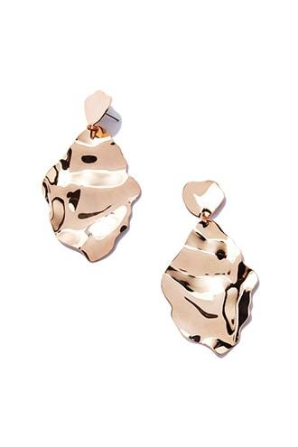 Forever21 Hammered Drop Earrings