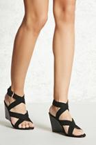 Forever21 Faux Suede Ankle-strap Wedges