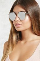 Forever21 Mirrored Bridgeless Sunglasses