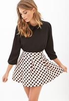 Forever21 Dotted A-line Skirt