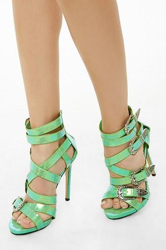 Forever21 Lemon Drop By Privileged Strappy Stiletto Heels