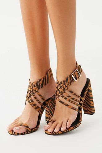 Forever21 Tiger Striped Block Heels