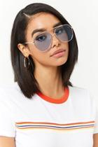 Forever21 Metallic Geo Aviator Sunglasses