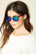 Forever21 Brown & Green Round Sunglasses