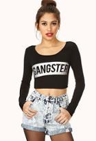 Forever21 Gangster Crop Top