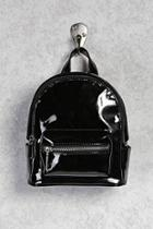 Forever21 Faux Patent Mini Backpack