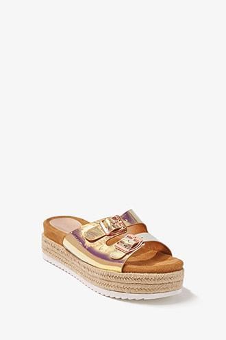 Forever21 Iridescent Espadrille Sandals