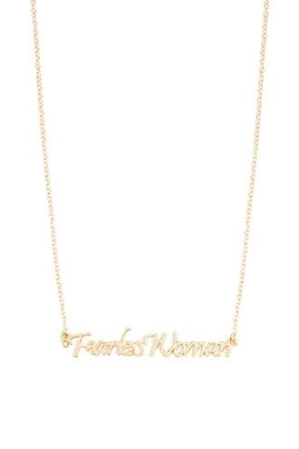 Forever21 Fearless Woman Pendant Necklace