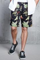 Forever21 Tropical Drawstring Shorts