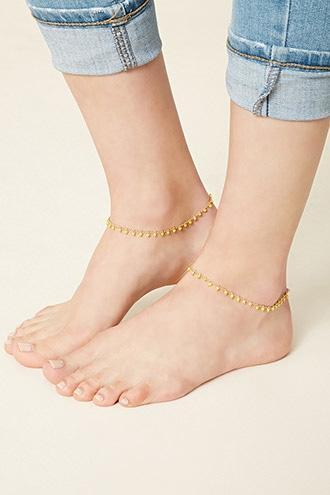Forever21 Beaded Anklet Set