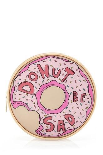 Forever21 Donut Be Sad Makeup Bag