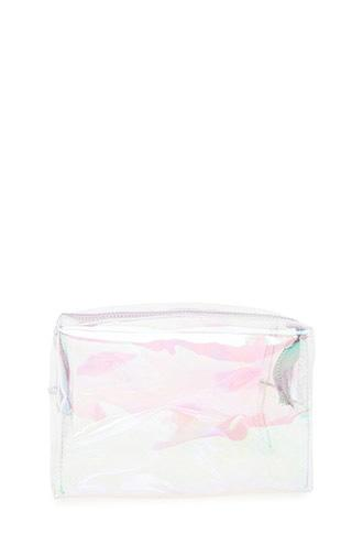 Forever21 Clear Iridescent Makeup Bag