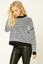 Love21 Women's  Contemporary Stripe Sweater