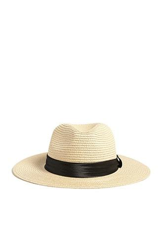 Forever21 Satin Band Straw Hat