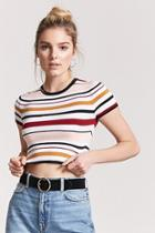 Forever21 Multi-striped Crop Top