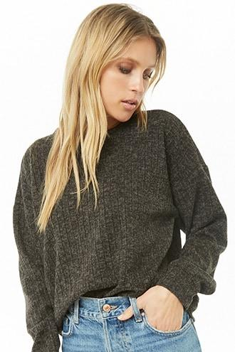 Forever21 Marled Ribbed Top