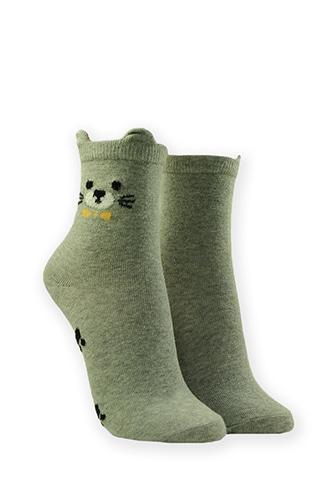 Forever21 Cat Graphic Crew Socks