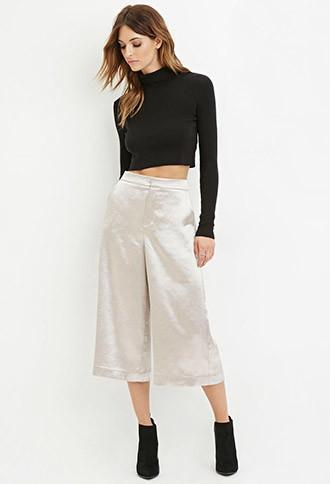 Love21 Satin Culottes