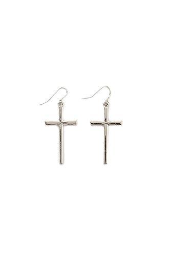 Forever21 Cross Drop Earrings