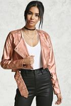 Forever21 Metallic Faux Leather Jacket