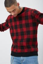 Forever21 Brushed Knit Buffalo Plaid Sweater