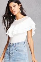 Forever21 Ruffled Illusion Top