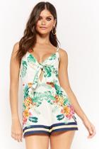 Forever21 Tropical Print Cami Romper