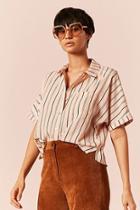 Forever21 Striped Satin Shirt