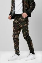 Forever21 Camo Print Zip-ankle Track Pants