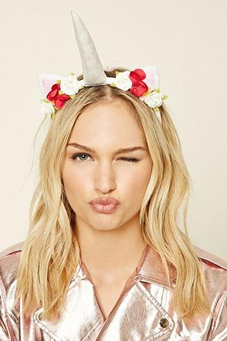 Forever21 Floral Unicorn Headband
