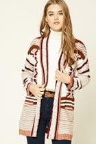 Forever21 Ribbed Tribal Pattern Cardigan