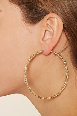 Forever21 Oversized Twisted Hoop Earrings