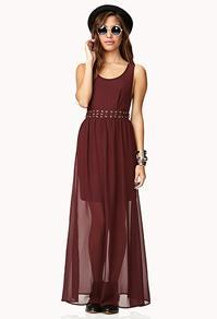 Forever21 Lace-up Cutout Maxi Dress