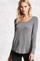 Forever21 Striped Long-sleeve Tee