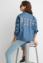 Forever21 Pizza Denim Jacket