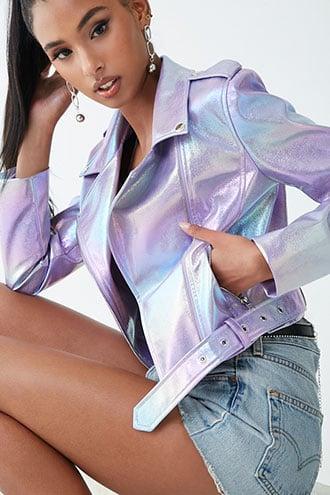Forever21 Iridescent Moto Jacket