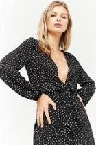 Forever21 Plunging Polka Dot Mini Dress
