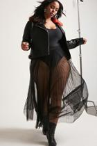 Forever21 Plus Size Sheer Mesh Maxi Skirt