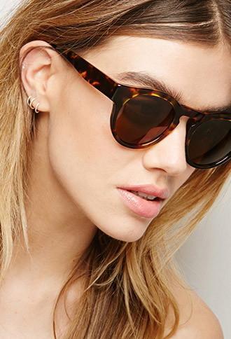 Forever21 Sicky Eyewear Round Tortoiseshell Sunglassess