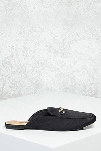 Forever21 Bit-buckle Loafer Slides