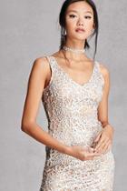 Forever21 Glitter Cutout Bodycon Dress
