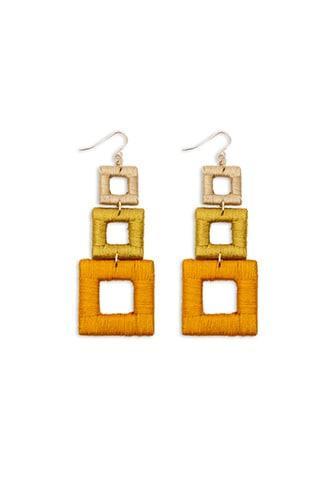Forever21 Tiered-geo Drop Earrings
