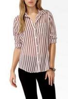 Forever21 Vertical Striped Shirt
