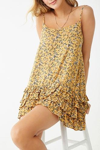 Forever21 Floral Ruffle-hem Cami Dress
