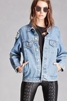 Forever21 Momokrom Distressed Denim Jacket