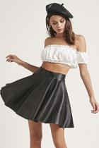 Forever21 Faux Leather Circle Skirt