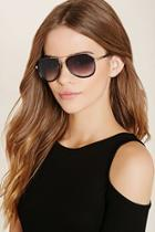Forever21 Brow-bar Aviator Sunglasses