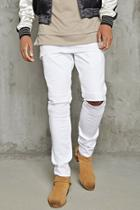 Forever21 Distressed Skinny Moto Jeans